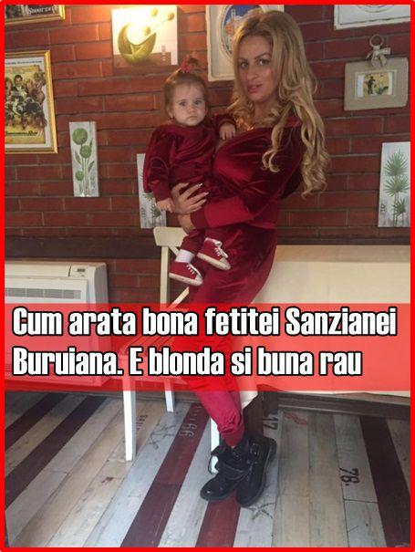 Cum arata bona fetitei Sanzianei Buruiana. E blonda si buna rau