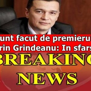 Anunt facut de premierul Sorin Grindeanu: In sfarsit!