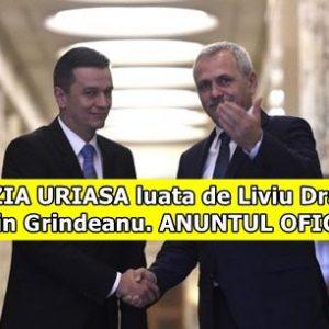 DECIZIA URIASA luata de Liviu Dragnea si Sorin Grindeanu. ANUNTUL OFICIAL