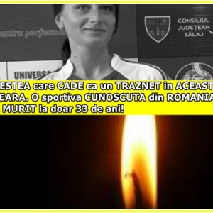 VESTEA care CADE ca un TRAZNET in ACEASTA SEARA. O sportiva CUNOSCUTA din ROMANIA A MURIT la doar 33 de ani!