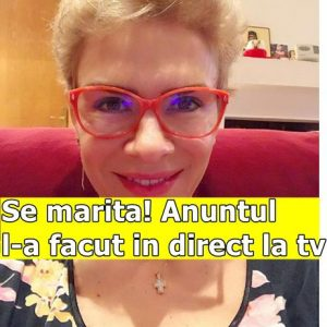 Se marita! Anuntul l-a facut in direct la tv