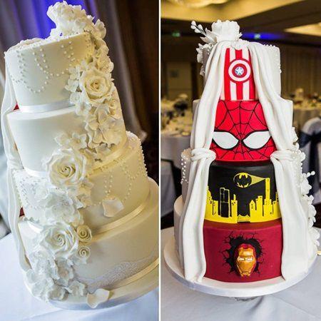 Tortul de nunta acestor tineri casatoriti a umit toti invitatii. Vezi aici cum arata