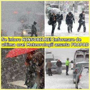 Se intorc NINSORILE! Informare de ultima ora! Meteorologii anunta PRAPAD